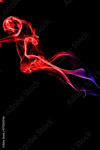 Abstract Red And Blue Smoke On Black Background Smoke Background Colorful Ink Background Red And Blue Fire Beautiful Color Smoke Wall Mural Athipat