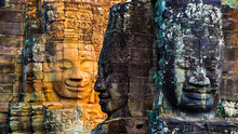 Stone Murals And Statue Bayon ...