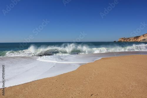 Fototapety, obrazy: Wellen am Strand in Portugal