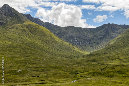 Photo  Historic site of the battle of Glen Shiel in the Scottish highlands