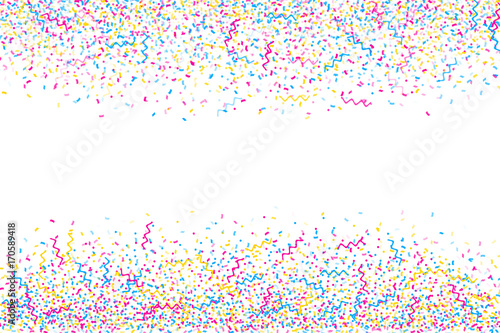 Abstract multicolored background  A lot of small falling