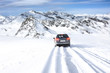 winter time and car on road