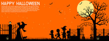 Halloween Background, There Are 4 Unique Layers .( Orange,yellow, Black ,dark Orange) Easy To Manage Color.