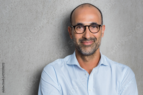 Fotografie, Obraz  Businessman wearing eyeglasses