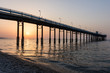 Wonderful seascape of a Pier in the sunrise.