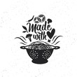 Inspirational typography. Made with Love.