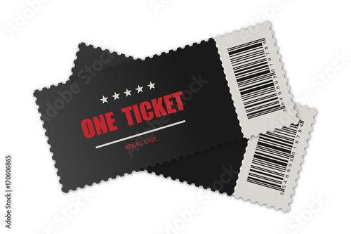 Fotomural Vector realistic ticket, designed for one person