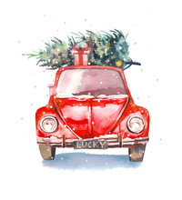 Christmas Illustration. Waterc...