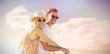 Composite image of cute couple on a bike ride digital composite