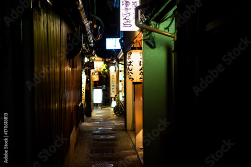 Canvas Prints Narrow alley Kyoto, Japan