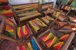 colourful knit patio furniture in Colombia