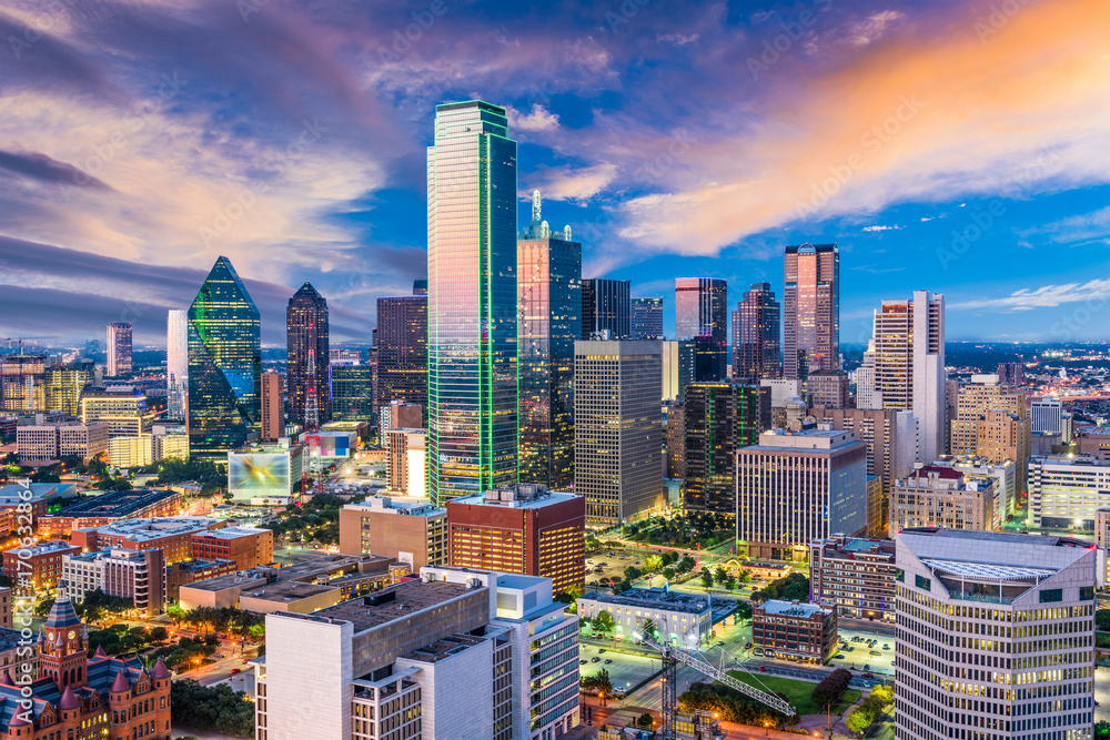 Fototapety, obrazy: Dallas Texas Skyline