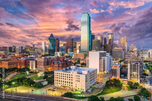 Aluminium Prints Texas Dallas Texas Skyline