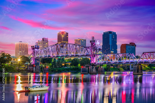 Photo Little Rock Arkansas Skyline