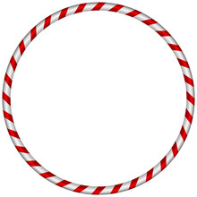 The Hula Hoop Silver With Red