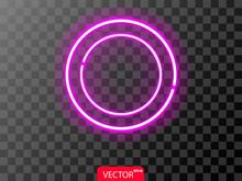 Neon Realistic Violet Circles ...