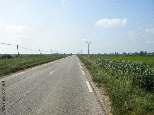 Zdjęcie XXL Opuszczona droga na wsi
