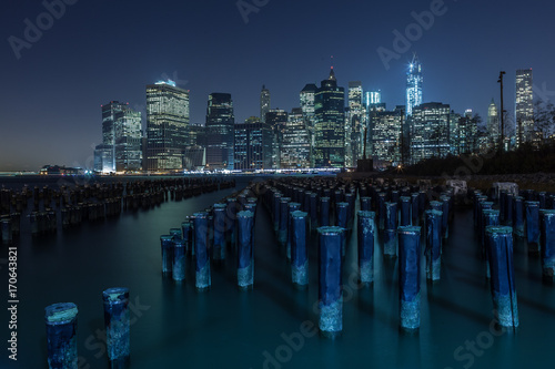 Foto op Aluminium New York Downtown Manhattan from the old Brooklyn Piers