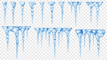 Set Of Translucent Icicles. Tr...