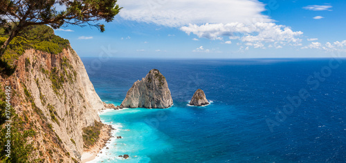 Keri cliffs in Zakynthos (Zante) island in Greece Wallpaper Mural