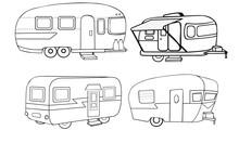 Vintage Campers Vector Illustr...