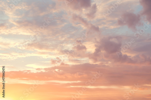 Photo Stands Sunset Abstract color pastel background, A soft sky with cloud background in pastel color