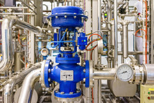 Pneumatic Control Valve In A Steam Heating System