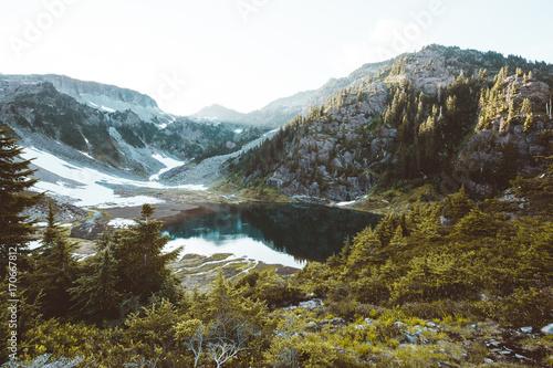 Staande foto Oceanië Lake in the mountains