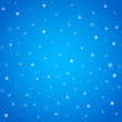 Winter blue background with snowflakes, editable eps 10 illustration.