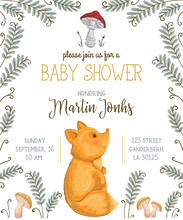 Baby Shower Invitation With Fo...