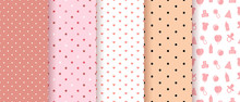 Seamless Patterns For Baby Gir...