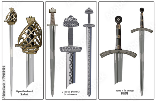 Fotomural Ancient Europe weapon - set of swords