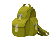 Backpack Isolated Icon In Cart...
