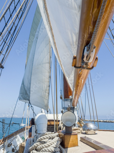 Canvas tall ship - brigatine