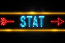 Stat  - Fluorescent Neon Sign ...