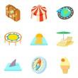 Presume icons set, cartoon style