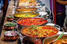 Variety Of Cooked Curries On D...