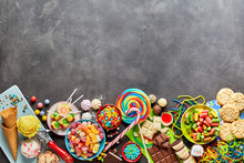 Assortment Of Colourful Sweets...