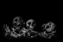 Awesome Pile Of Skull Human An...