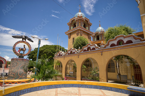 Amérique du Sud church in the centre of the tropical town of Tumbes Peru known for the finest beaches of the country