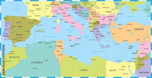 mediterranean-sea-map-vector-illustration