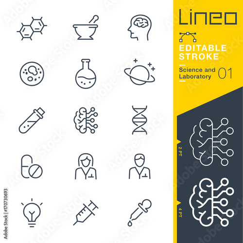 Photo  Lineo Editable Stroke - Science and Laboratory line icons