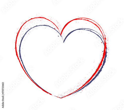 Fotografia Grunge Heart thin line Frame Design