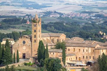 Fototapeta na wymiar Medieval beautiful church in Siena, Tuscany, Italy