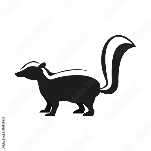 Skunk animal cartoon icon vector illustration graphic design