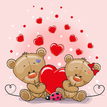 Two Bears With Heart