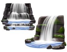 Waterfalls Realistic Compositi...