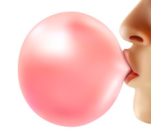Realistic Bubble From Chewing Gum