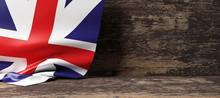 United Kingdom Flag On Wooden ...
