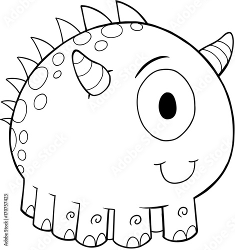 Cute Monster Vector Illustration Art